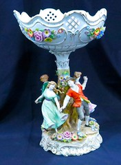 BOUTIQUE:  20 inches high porcelain epergne by Von Schierholz.