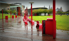 """Voir rouge"" ""See red"" Museumplein, Amsterdam, Nederland (claude lina) Tags: claudelina nederland netherlands paysbas hollande amsterdam muse stedelijkmuseum"