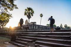 Me and Angkor wat (Saw NaJah) Tags: angkor wat temple people architecture travel asia landscape cambodia photographer sky sunrise tree