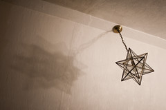 Day Two Hundred and Seventy Six / Year Five. (evilibby) Tags: ceiling light ceilinglight star pendantlamp lamp ceilinglamp shadow project365