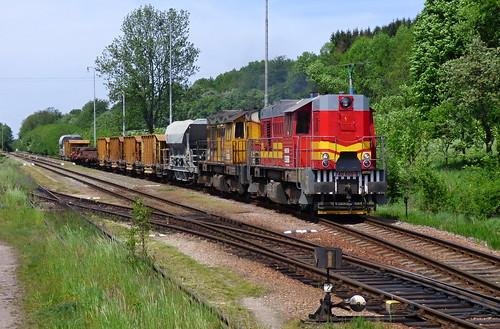 """740.800+740.705, """"květnové odklony"""" - cargo train - Potštejn - CZECH REPUBLIC"""