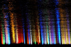 DSCF6009 (Elena Berd) Tags: light lights christmas xmas night ontario canada konicahexanonar50mmf17 abstract background colours manualfocus fujixe2 water reflection