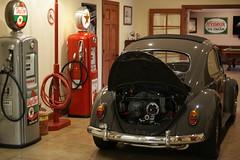DSC05061 (ribeye280) Tags: volkswagen beetle 1963 anthracite calook weber 2332 scat vw texaco gas pump bennett garage