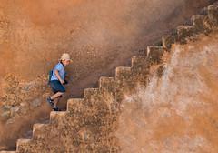 Every step you take (ana_bray) Tags: travel morocco chouen stairs climb colour art boy kasbah