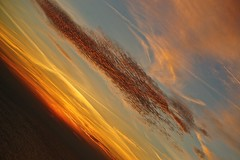 Golden Glow (bimbler2009) Tags: sonyalpha900 sunset angle sky light outdoor clouds movement colourful motion