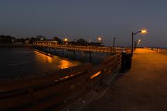 Saint Simons Island GA Pier-012 (VinceFL) Tags: brunswickga fisheye fullmoon lighthouse luna lunar manfrottotripod moon nature nikond7100 nikonmll3 outdoors saintsimonsislandga sky southern sunset tamron70300mmf456dild12autofocusmacro vincefl