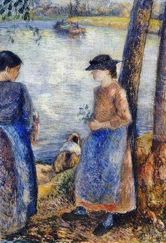 Paysannes près de l'eau (C Pissarro)