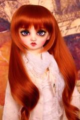Red-headed girl (borboletta_blu) Tags: volks nana sd13 purenormalskin ns foursisters doll bjd resindoll leeke carrot wig 910inch enchanteddoll eyes ed sweety purple 18mm morigirl redheaded