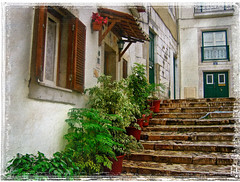 Alfama (Jocelyn777) Tags: portugal lisboa buildings plants steps cities towns houses travel textured