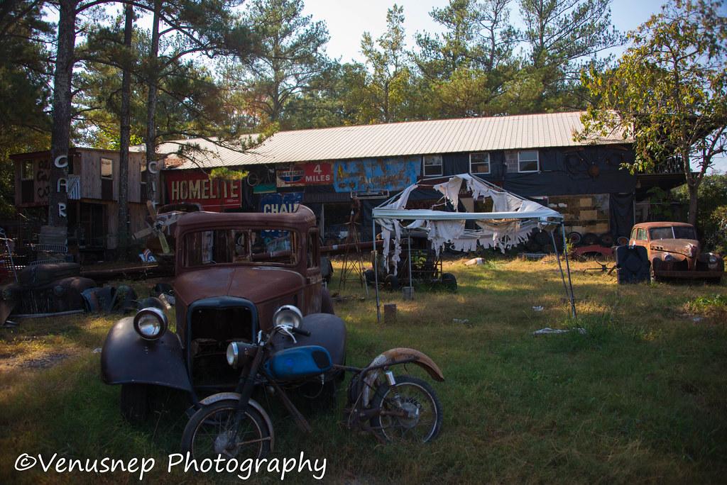 Old Car Junkyard White Ga