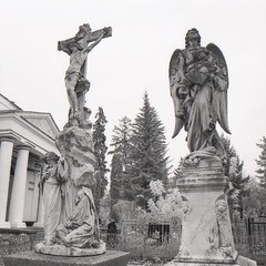 Sumy cemetary (Andriy Grechka) Tags: a2 bw infrared rollei film sumy