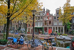Bloemgracht Canal, Amsterdam, The Netherlands (PhotosToArtByMike) Tags: bloemgrachtcanal bloemgracht amsterdam jordaan netherlands picturesque canal flowercanal gabledhouses canalhouse canalring grachtengordel dutch holland