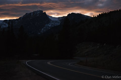 The Road Ahead (d.mitler) Tags: road path pathway mountain mountains motivation determination persistence sky twilight dusk dark sunset sun landscape rockies rockymountains nationalpark