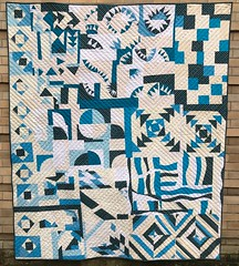 SeaSlab BOM Finished! (Odditease) Tags: quilt quilting modern improvisation texture