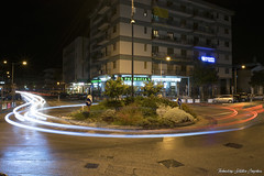Traffic Circle, Light Painting (technologysolutiongraphics) Tags: nikon nikkor nikond3300 d3300 adobe shadows shadow user paestum landscape paesaggio capaccio italia italian italy nitidezza clarity photoshop photographer photo photography foto fotografia fotografo super city citt nightscape citynight road strada color light lights luci lightpainting new depthoffield followme flick home casa circle rotonda red shoot scattare adventure avventura travel viaggio