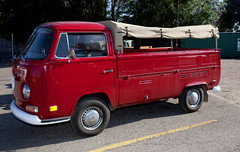 1974 Volkswagen Pickup Truck (coconv) Tags: car cars vintage auto automobile vehicles vehicle autos photo photos photograph photographs automobiles antique picture pictures image images collectible old collectors classic blart 1974 volkswagen pickup truck red bus 74 canvas convered