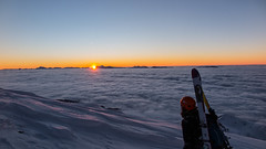 The reward after an exhausting day, Chamrousse (rob.bonnet) Tags: sunset cloudsea cloud sea mixedclimbing skitouring vercors chamrousse