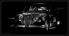 Roger Cope Jaguar Mark 2 (jdl1963) Tags: historic racing thruxton motorsport motor blackandwhite bw black white monochromeroger cope jaguar mark 2