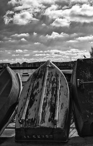 Barcas en el puerto de Hondarribia