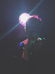 331/366 (moke076) Tags: 2016 365 366 project366 project 365project project365 oneaday photoaday vsco vscocam cell cellphone iphone mobile woman friend lights club dark bright spotlight pink hair music 80s night portrait colors