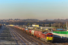 """""""Wintery Westerleigh"""" (MSRail Photography) Tags: class60 60 dbs freight petroleum"""