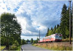 Norwegian summer skies (Nic Joynson) Tags: gjvik oslosentral 218 stryken class69