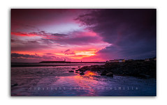 Early Morning Blaze (RonnieLMills - 2 Million Views...Thank you All :)) Tags: donaghadee harbour lighthouse early morning colours blaze sunrise dawn