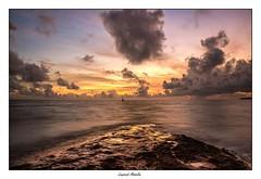 Balise K13 (Laurent Asselin) Tags: balise k13 mer eau ocan sunrise aube soleil ciel nuages paysage couleurs couleur roches rochers rivage cte guyane kourou