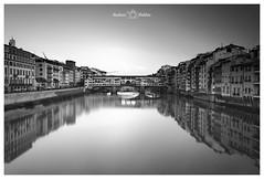 (Andrea Boldini) Tags: florence italy blackandwhite travel bridge pontevecchio scenic monocrome nikon leefilters cityscape city reflections travelphotography