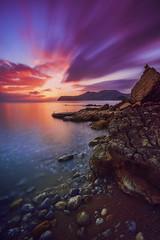 Cada atardecer es diferente... (elpitiuso) Tags: sunset sunsetibiza aire libre airelibre clouds colors storm sky sea beach nubes rocks sun lights ibiza