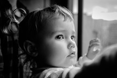 Window Light (FranciscoEvangelista) Tags: window light daughter black eyes baby kids bw blackwhite blackandwhite monochrome moment highlights contrast classic fuji fujifilm x100t raw child indoor people depth field