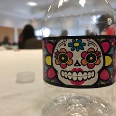 11/29/16 Sugar Skull Bottle (Karol A Olson) Tags: waterbottle sugarskull color bottle meeting nov16 project3662016