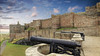 Gun Emplacements - Bamburgh Castle (alsimages1 - Thank you for 860.000 PAGE VIEWS) Tags: coast england castles landscape clouds dramatic sea water historic battlements armour staterooms cafe shop armoury dungeons art gallery berwick alnwick