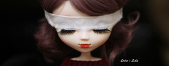 1 day of darkness (pure_embers) Tags: uk red brown colour cute girl eyes doll dolls darkness blind sweet stock sadie lips planning wig modified pullip luts pure jun embers blindfold rosy obitsu rosybrown stica pureembers