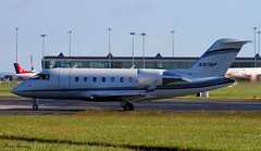 Nationwide Mutual Insurance Co CL-600 N97NP (birrlad) Tags: ireland dublin sunlight up airplane airport haze taxi aircraft aviation airplanes line landing heat approach takeoff runway airliner