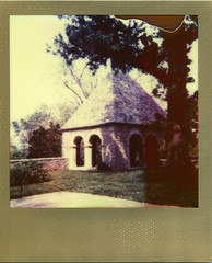 Greenacres Arts Center tea house (Jacob's Camera Closet) Tags: camera sun house color green film project polaroid gold tea arts center shade 600 frame instant acres impossible
