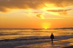 Let troubles wash away (Damian Gadal) Tags: california sunset silhouette santabarbara geotagged nikon september 2011 arroyoburrobeach d80 nikond80