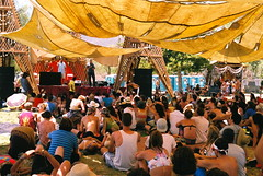 temple of consciousness (MorganBak) Tags: california film hippies temple pentax temecula lightninginabottle