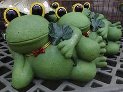 Relaxation  (FujiFilm X10) (potopoto53age) Tags: green apple japan hardwarestore aperture frog ornament 日本 fujifilm relaxation fujinon yamanashi kofu x10 homeimprovementstore liedown appleaperture 山梨県 artobject superebc 甲府市 potopoto53age keiyod2 mygearandme ケーヨーd2 fujifilmx10 fujinonsuperebc21mm~112mmf20~f28 21mm~112mm f20~f28 ornamentofthegarden