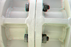Detail Rijnhaven Koepel 3D (wim hoppenbrouwers) Tags: detail 3d rotterdam anaglyph stereo koepel redcyan rijnhaven koppeling floatingpavilion drijvendpaviljoen detailrijnhavenkoepel