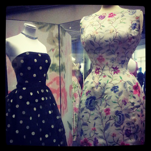 floral fashion museum square fifties embroidery polkadots fabric dresses va 1950s squareformat 50s textiles cocktaildress iphoneography instagramapp xproii uploaded:by=instagram foursquare:venue=4ae2d9f8f964a5208d8f21e3