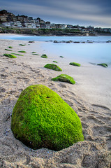 Green Eggs and ... (Rodney Campbell) Tags: ocean longexposure sky beach water clouds sunrise rocks australia newsouthwales bronte cpl gnd09 bigstopper