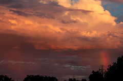 foster city rainbow (jpmacmillan) Tags: california ca sunset sky storm northerncalifornia cali clouds rainbow day skies cloudy north optical stormy calif fostercity atmosphericoptics phenomenon