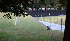 Maya Lin, Vietnam Veterans Memorial, view from above left