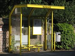 Bus Stop (Padeia) Tags: borschemich erkelenz busstop bushaltestelle mlleimer abfalleimer bin 2013 padeia canon germany marienstift outdoor pointandshootcamera radtour