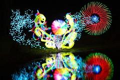 Flower Portal (tackyshack) Tags: light lightpainting reflection umbrella painting pond lp dlw lightpainter lightphotography monkeylight tackyshack digitallightwand ©jeremyjackson