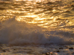 Sea (Florian Mcht) Tags: sunset sea miniature foam tiltshift