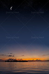 Tropical sunset (Dario Lo Presti) Tags: sunset sea summer sky cloud moon reflection silhouette night dark star dusk backgrounds bigisland cloudscape maldive tropicalclimate hawaiiislands