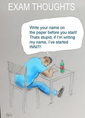 INNIT (Robin Hutton) Tags: artwork education funny thought cartoon exam comment robinhuttonart