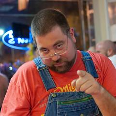Bear Game night-6x6-5192 (Mike WMB) Tags: bear beard goatee overalls mrkentuckybourbonbear